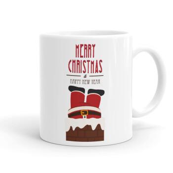 Merry christmas chimney, Κούπα, κεραμική, 330ml (1 τεμάχιο)