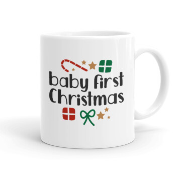 Baby first Christmas, Κούπα, κεραμική, 330ml (1 τεμάχιο)