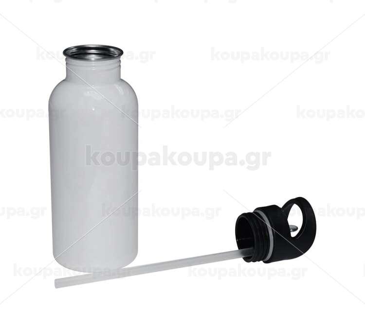 Παγούρι ανοξείδωτο ατσάλι 600ml καπάκι straw