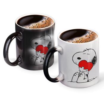 Snoopy, Κούπα Μαγική, κεραμική, 330ml που αλλάζει χρώμα με το ζεστό ρόφημα (1 τεμάχιο)