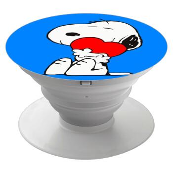 Snoopy, Pop Socket Λευκό Βάση Στήριξης Κινητού στο Χέρι