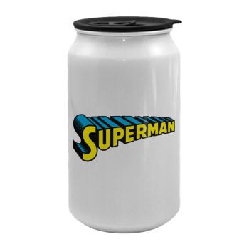 Superman vintage, Κούπα ταξιδιού μεταλλική με καπάκι (tin-can) 500ml