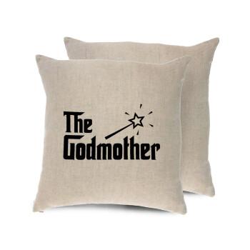The Godmather, Μαξιλάρι καναπέ ΛΙΝΟ 40x40cm περιέχεται το γέμισμα