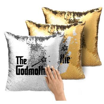 The Godmather, Μαξιλάρι καναπέ Μαγικό Χρυσό με πούλιες 40x40cm περιέχεται το γέμισμα