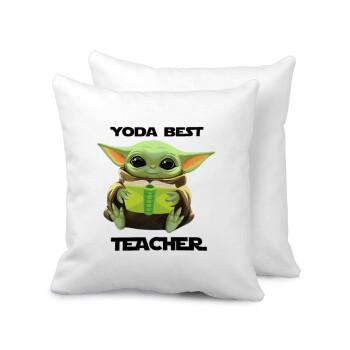 Yoda Best Teacher, Μαξιλάρι καναπέ 40x40cm περιέχεται το γέμισμα