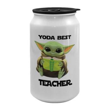 Yoda Best Teacher, Κούπα ταξιδιού μεταλλική με καπάκι (tin-can) 500ml