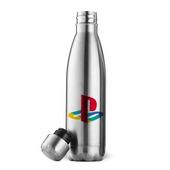 Playstation, Μεταλλικό παγούρι θερμός Inox (Stainless steel 304), διπλού τοιχώματος, 500ml