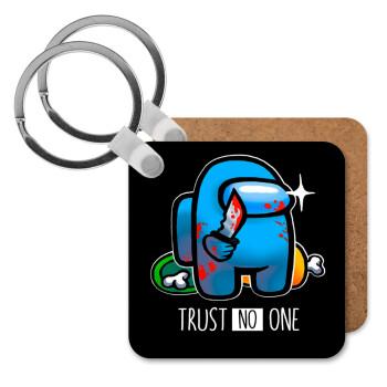 Among Trust no one, Μπρελόκ Ξύλινο τετράγωνο MDF 5cm (3mm πάχος)
