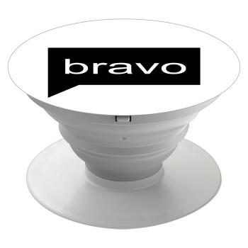Bravo, Pop Socket Λευκό Βάση Στήριξης Κινητού στο Χέρι