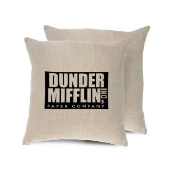 Dunder Mifflin, Inc Paper Company, Μαξιλάρι καναπέ ΛΙΝΟ 40x40cm περιέχεται το γέμισμα