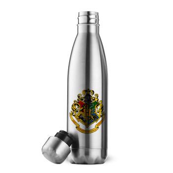 Hogwart's, Μεταλλικό παγούρι θερμός Inox (Stainless steel 304), διπλού τοιχώματος, 500ml