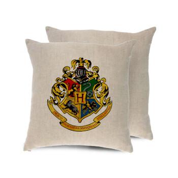 Hogwart's, Μαξιλάρι καναπέ ΛΙΝΟ 40x40cm περιέχεται το γέμισμα