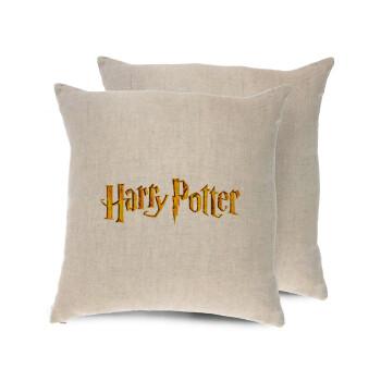Harry potter movie, Μαξιλάρι καναπέ ΛΙΝΟ 40x40cm περιέχεται το γέμισμα