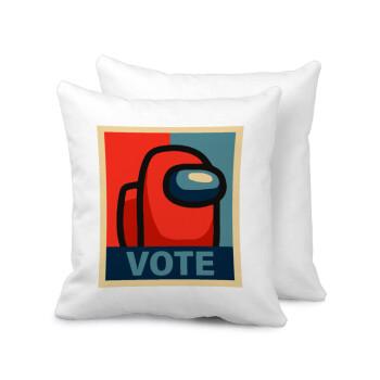 Among US VOTE, Μαξιλάρι καναπέ 40x40cm περιέχεται το γέμισμα