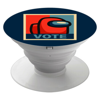 Among US VOTE, Pop Socket Λευκό Βάση Στήριξης Κινητού στο Χέρι