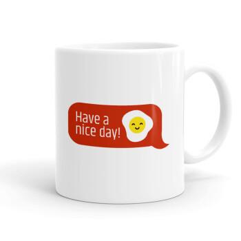 Have a nice day Emoji, Κούπα, κεραμική, 330ml (1 τεμάχιο)