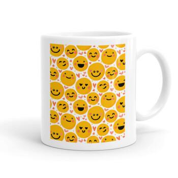 Emojis Love, Κούπα, κεραμική, 330ml (1 τεμάχιο)