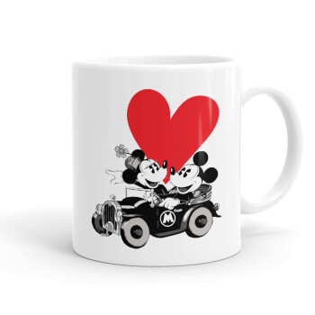 Mickey & Minnie love car, Κούπα, κεραμική, 330ml (1 τεμάχιο)