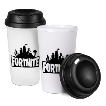 Fortnite, Κούπα ταξιδιού πλαστικό (BPA-FREE) με καπάκι βιδωτό, διπλού τοιχώματος (θερμό) 330ml (1 τεμάχιο)