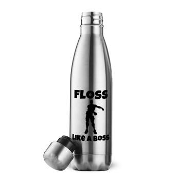 Fortnite Floss Like a Boss, Μεταλλικό παγούρι θερμός Inox (Stainless steel 304), διπλού τοιχώματος, 500ml