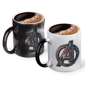 Avengers, Κούπα Μαγική, κεραμική, 330ml που αλλάζει χρώμα με το ζεστό ρόφημα (1 τεμάχιο)