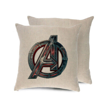 Avengers, Μαξιλάρι καναπέ ΛΙΝΟ 40x40cm περιέχεται το γέμισμα