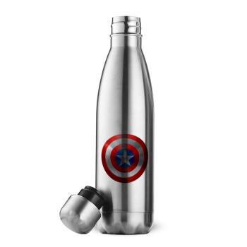 Captain America, Μεταλλικό παγούρι θερμός Inox (Stainless steel), διπλού τοιχώματος, 500ml