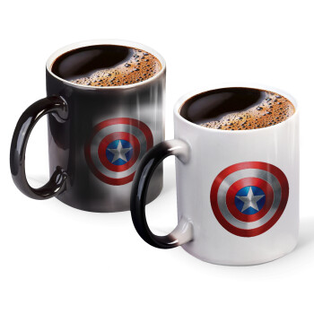 Captain America, Κούπα Μαγική, κεραμική, 330ml που αλλάζει χρώμα με το ζεστό ρόφημα (1 τεμάχιο)