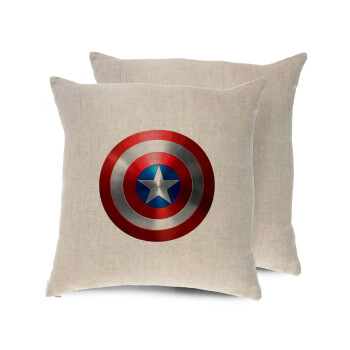 Captain America, Μαξιλάρι καναπέ ΛΙΝΟ 40x40cm περιέχεται το γέμισμα
