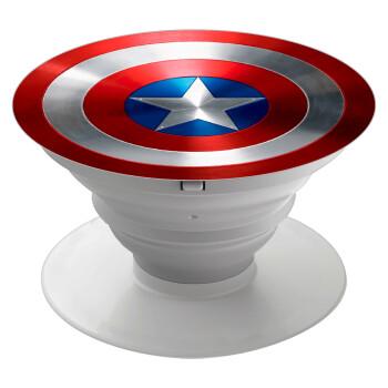 Captain America, Pop Socket Λευκό Βάση Στήριξης Κινητού στο Χέρι