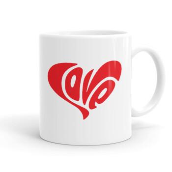 Love, Κούπα, κεραμική, 330ml (1 τεμάχιο)