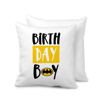 Birth day Boy (batman), Μαξιλάρι καναπέ 40x40cm περιέχεται το γέμισμα