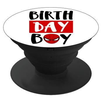 Birth day Boy (spiderman), Pop Socket Μαύρο Βάση Στήριξης Κινητού στο Χέρι