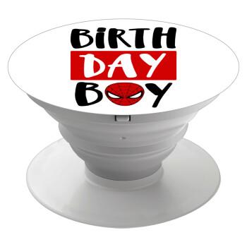 Birth day Boy (spiderman), Pop Socket Λευκό Βάση Στήριξης Κινητού στο Χέρι