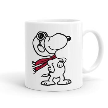 Snoopy ο πιλότος, Κούπα, κεραμική, 330ml (1 τεμάχιο)