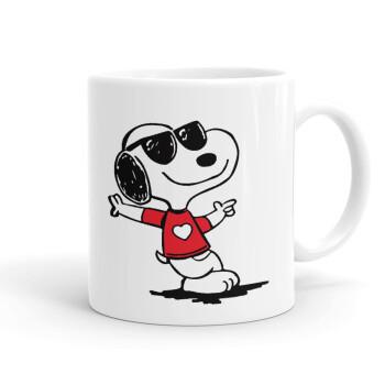 Snoopy καρδούλα, Κούπα, κεραμική, 330ml (1 τεμάχιο)