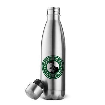 Coffee's for closers, Μεταλλικό παγούρι θερμός Inox (Stainless steel 304), διπλού τοιχώματος, 500ml