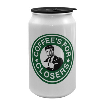 Coffee's for closers, Κούπα ταξιδιού μεταλλική με καπάκι (tin-can) 500ml