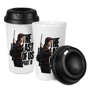 Last of us, Ellie, Κούπα ταξιδιού πλαστικό (BPA-FREE) με καπάκι βιδωτό, διπλού τοιχώματος (θερμό) 330ml (1 τεμάχιο)