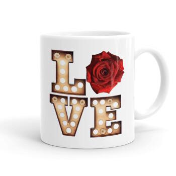 Love lights and roses, Κούπα, κεραμική, 330ml (1 τεμάχιο)