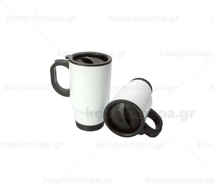 Κούπα ταξιδίου με καπάκι ανοξείδωτη διπλού τοιχώματος (θερμό) 450ml
