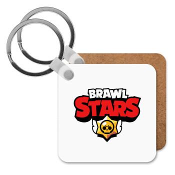 Brawl Stars, Μπρελόκ Ξύλινο τετράγωνο MDF 5cm (3mm πάχος)