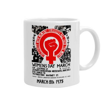 Women's day 1975 poster, Κούπα, κεραμική, 330ml (1 τεμάχιο)