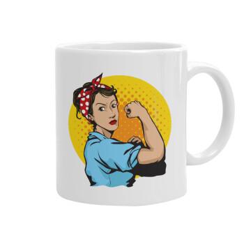 Strong Women, Κούπα, κεραμική, 330ml (1 τεμάχιο)