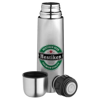 Hestiken Beer, Ισοθερμικό παγουρί & θερμό camping από ανοξείδωτο ατσάλι, διπλού τοιχώματος, 750ml