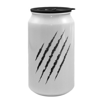Claw scratch, Κούπα ταξιδιού μεταλλική με καπάκι (tin-can) 500ml