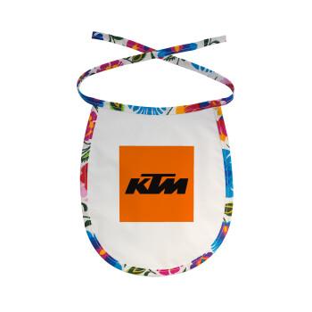 KTM, Σαλιάρα μωρού αλέκιαστη με κορδόνι Χρωματιστή