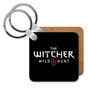 The witcher III wild hunt, Μπρελόκ Ξύλινο τετράγωνο MDF 5cm (3mm πάχος)