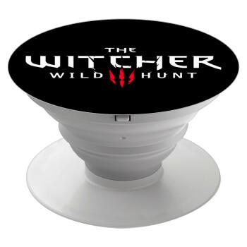 The witcher III wild hunt, Pop Socket Λευκό Βάση Στήριξης Κινητού στο Χέρι