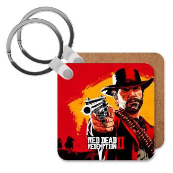 Red Dead Redemption 2, Μπρελόκ Ξύλινο τετράγωνο MDF 5cm (3mm πάχος)